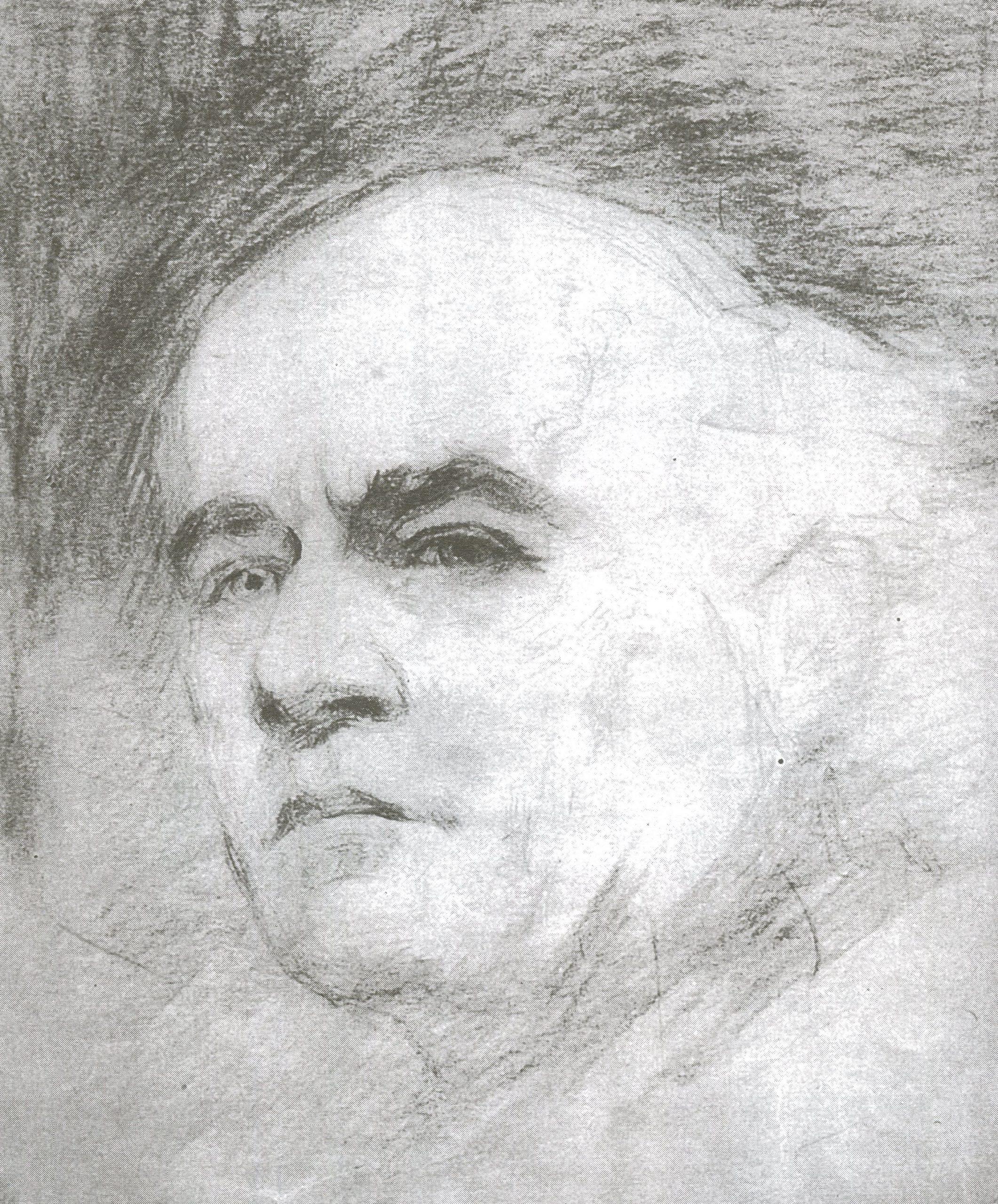 І.Літинський. Автопортрет (ескіз-замальовка)